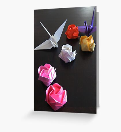 Origami Paper Cranes Greeting Card