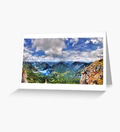 5 Fingers - Krippenstein (Austria) - 36 shot HDR Panorama Greeting Card