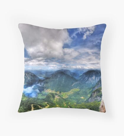 5 Fingers - Krippenstein (Austria) - 36 shot HDR Panorama Throw Pillow