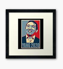 Andrew Yang 2020 Andrew Yang for President Framed Print