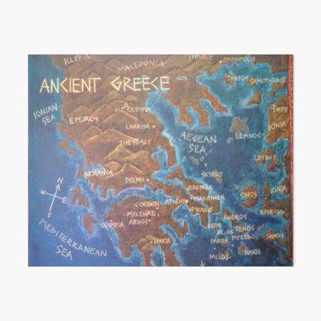 Map of Ancient Greece Art Board Print