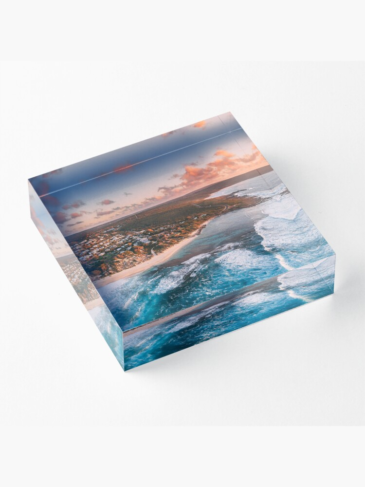 Alternate view of Yallingup Sunset Aerial Acrylic Block