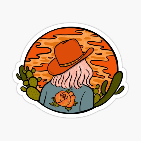 Desert Cowgirl Sticker