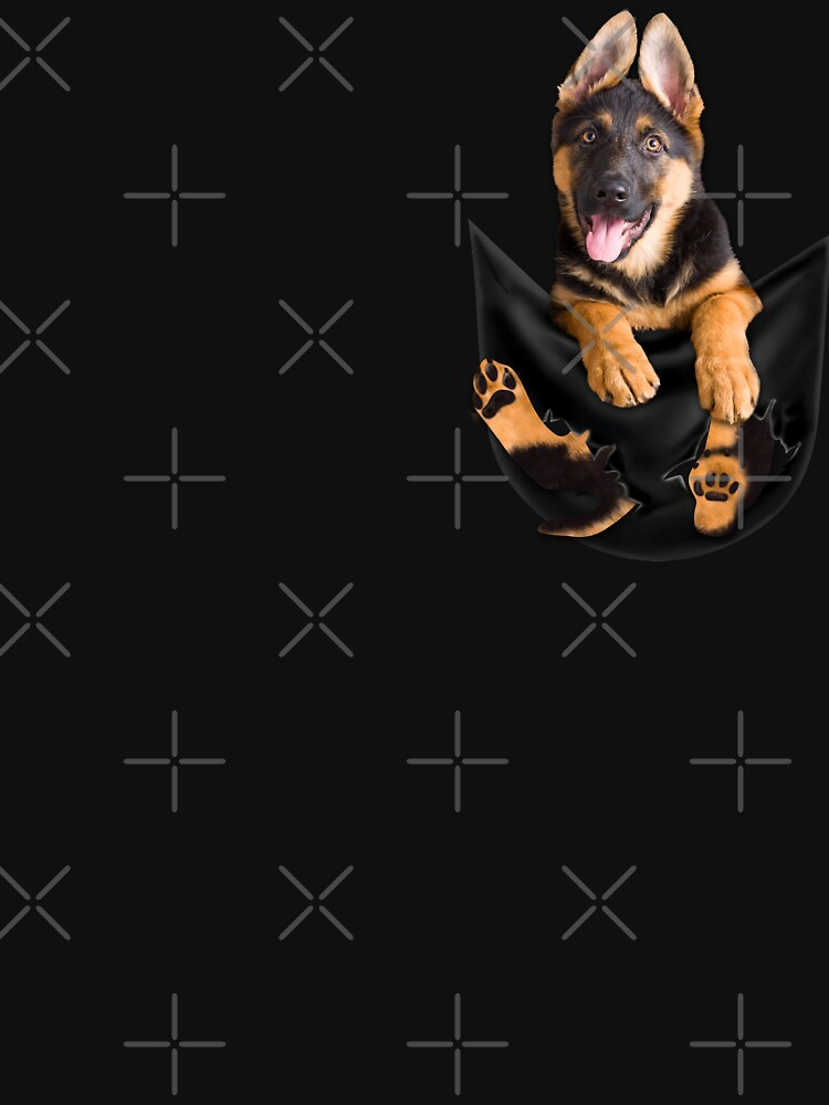Funny Dog In Pocket Meme Shirt German Shepherd Puppy Owners T Shirt by tuanitus