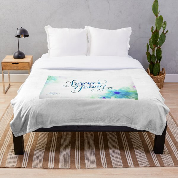 Forever Young by Jan Marvin Throw Blanket