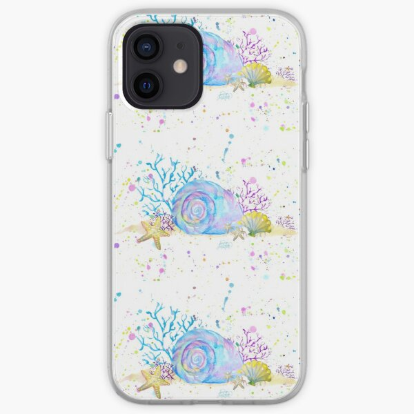 Seashells & Coral Watercolor iPhone Soft Case