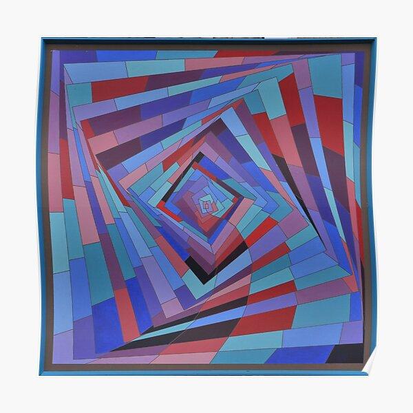 Square spiral Poster