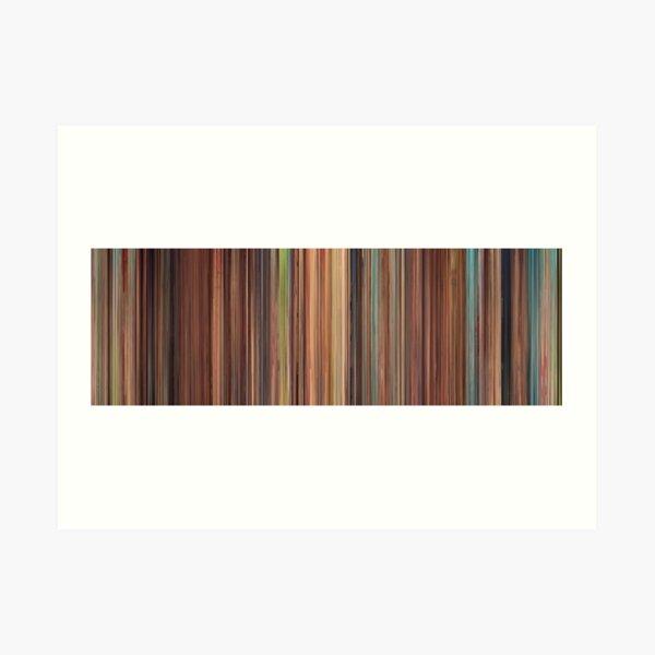 Moviebarcode: Spirited Away (2001) Art Print