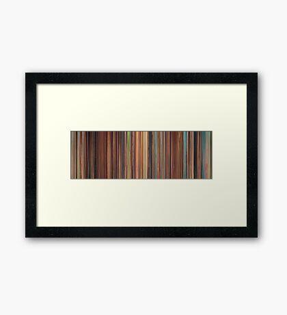 Moviebarcode: Spirited Away (2001) Framed Print
