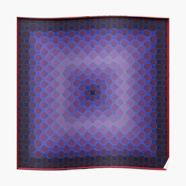 Violet Honeycomb Poster