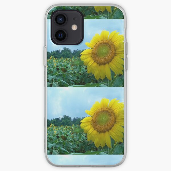 Sunflower Field by Jan Marvin iPhone Soft Case