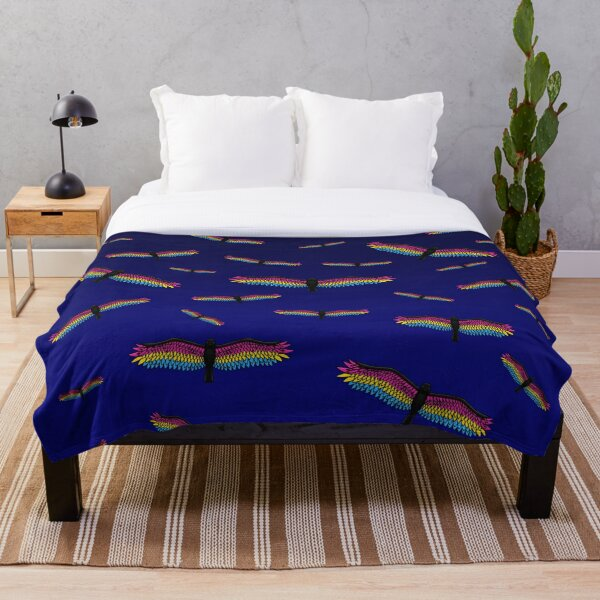 Fly With Pride, Raven Series - Pansexual Throw Blanket