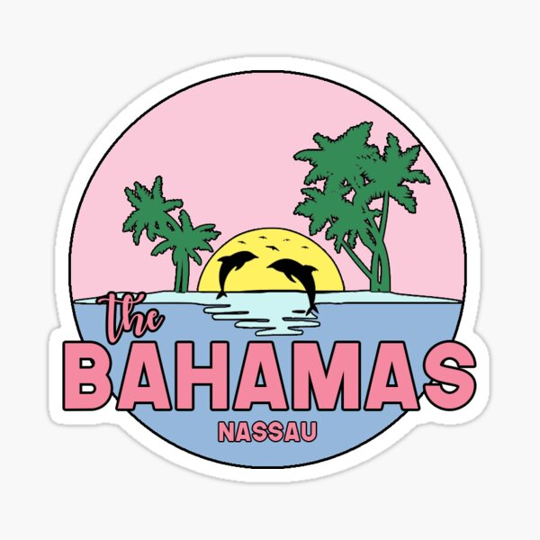 The Bahamas, Nassau City Sticker Sticker