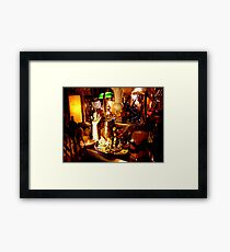 Second hand store Framed Print