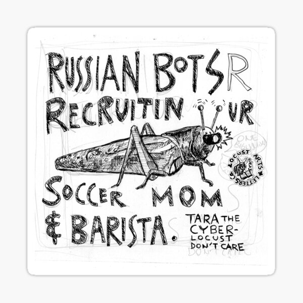 Cyber Locust Don't Care Sticker