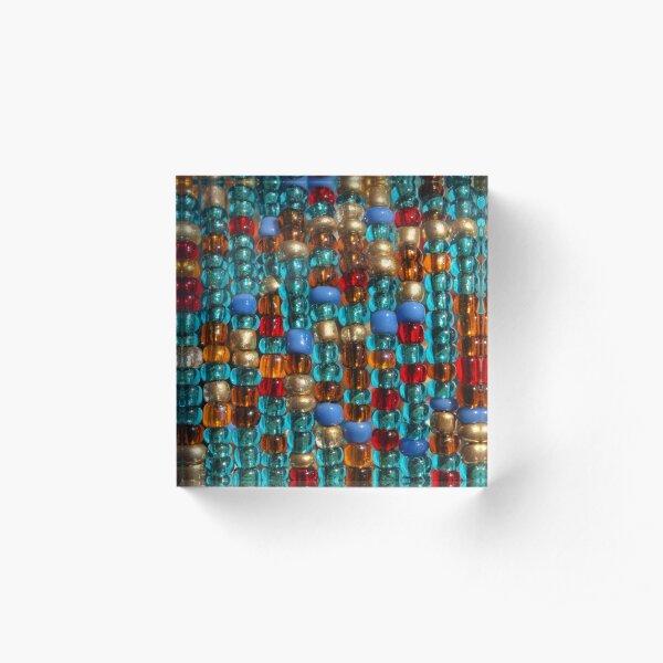 Beaded Curtain Acrylic Block