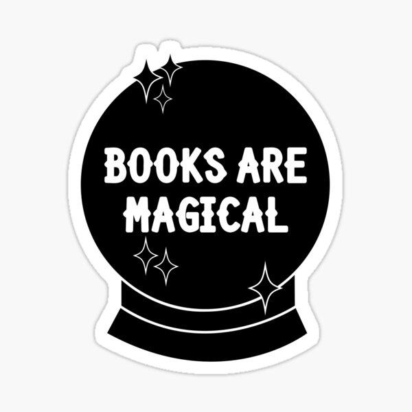 Books Are Magical Ball Sticker