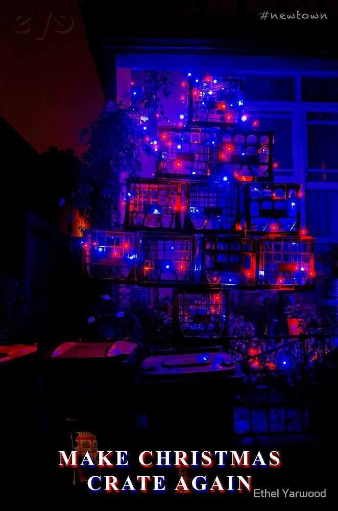 MAKE CHRISTMAS CRATE AGAIN - Newtown, Dec 2019 by Ethel Yarwood