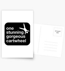 one stunning gorgeous cartwheel Postcards