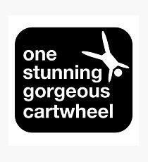 one stunning gorgeous cartwheel Photographic Print