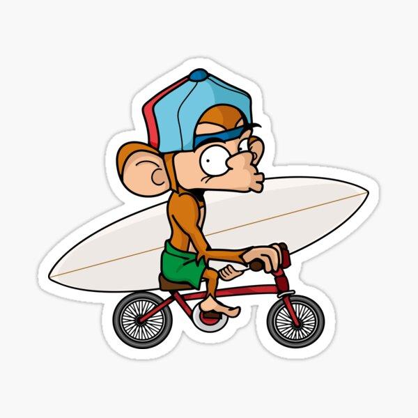Nate on bike Sticker