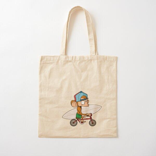 Nate on bike Cotton Tote Bag