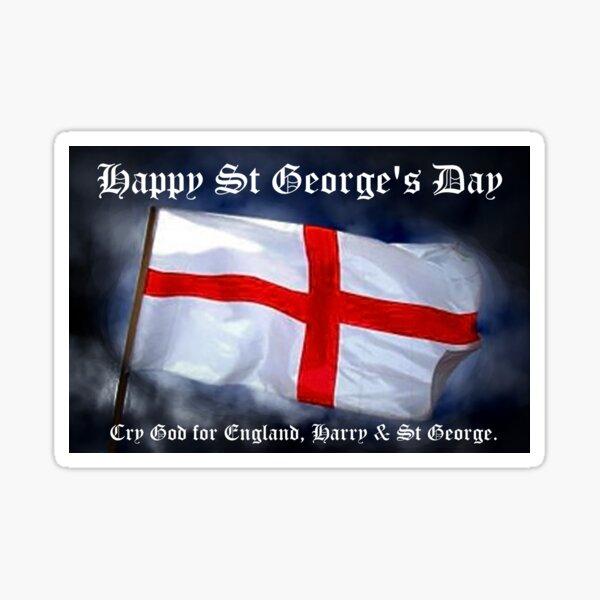 St George's Day card Sticker