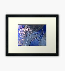 wet swirl and blue drip Framed Print