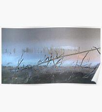 Morning Mist on the Lake Poster