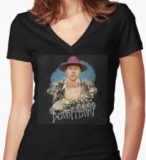 Macklemore Downtown Women's Fitted V-Neck T-Shirt