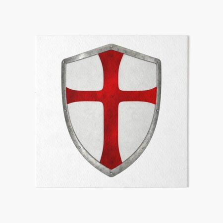 crusader cross templar shield crusade Art Board Print