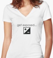 Get Exposed- Photographer T-Shirt Women's Fitted V-Neck T-Shirt