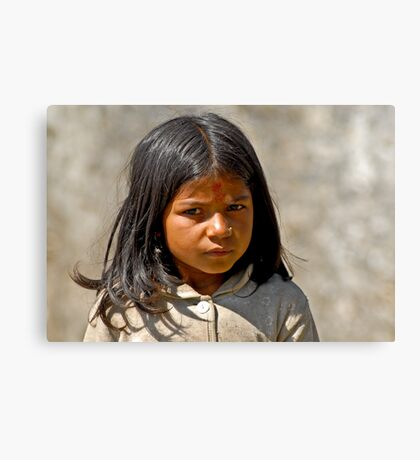 Nepali girl (V) Canvas Print