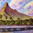 Mauritius: scene with boat by Gregory Pastoll