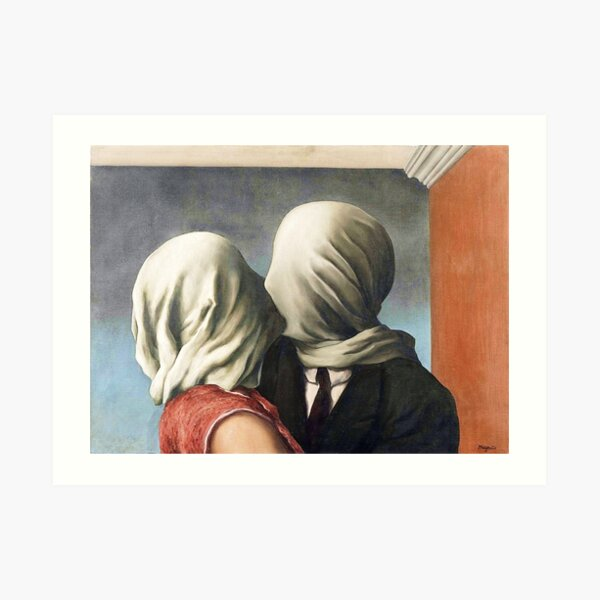 Rene Magritte - The Lovers II ( The Lovers 2) Art Print