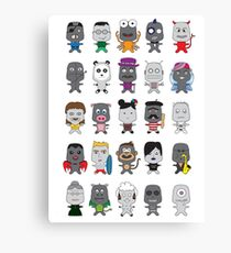 Cute Characters  Canvas Print