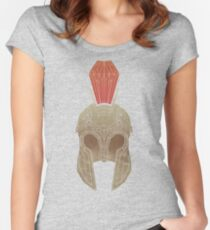 Geometric Trojan Helmet Women's Fitted Scoop T-Shirt