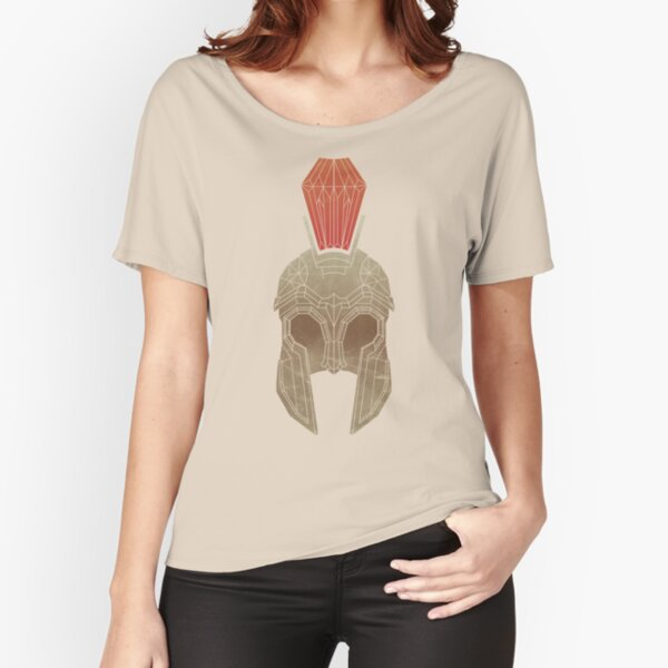 Geometric Trojan Helmet Relaxed Fit T-Shirt