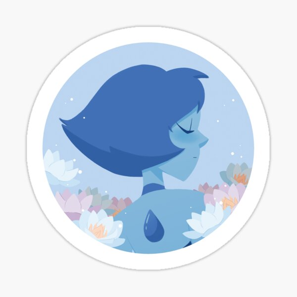 Pastel Lapis Lazuli portrait Sticker