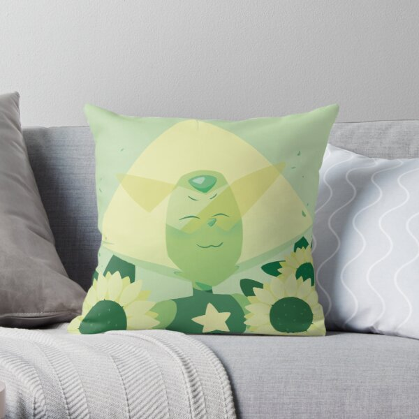 Pastel Peridot portrait Throw Pillow