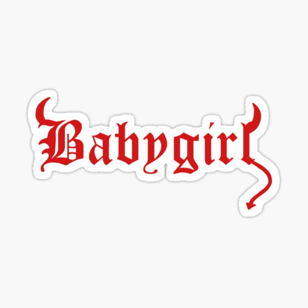diablo babygirl Pegatina