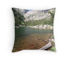 Hallett Peak and Emerald Lake in RMNP Colorado Throw Pillow