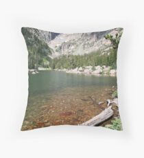 Hallett Peak and Emerald Lake in RMNP Colorado Throw Pillow
