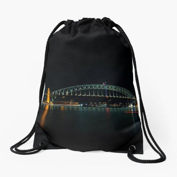 Sydney Harbour Bridge at Night Drawstring Bag