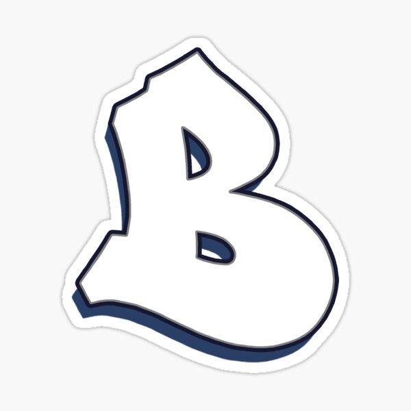 Letter B - White Sticker