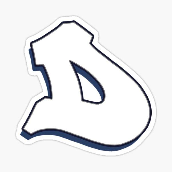 Letter D - White Sticker