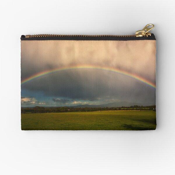 golden hour irsh rainbow Zipper Pouch
