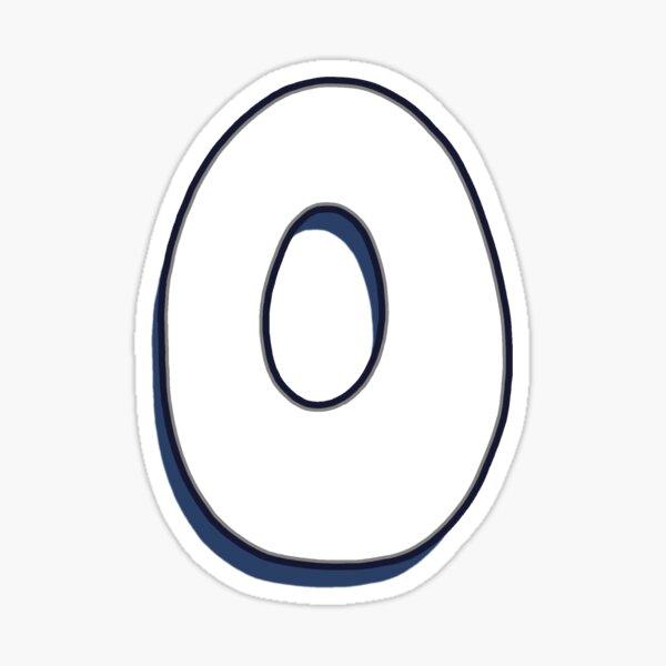 Letter O - White Sticker