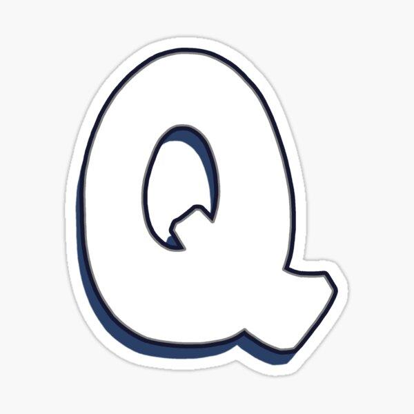 Letter Q - White Sticker