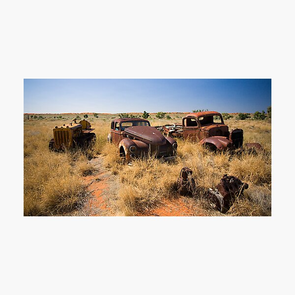 Old Vehicles Wrecks Photographic Print